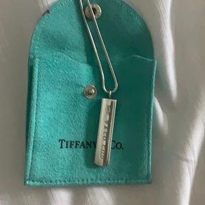 Tiffany's bar necklace